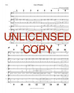 God of Wonders - Printable Orchestration - Printable Download