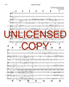 Stay the Course - Printable Orchestration - Printable Download