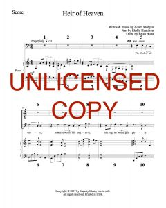 Heir of Heaven - Printable Orchestration - Printable Download