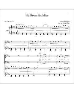 His Robes for Mine - Choral Octavo - Printable Download