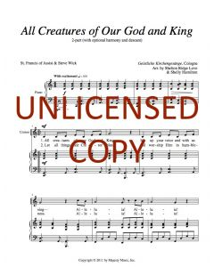 All Creatures of Our God and King (Children's 2-part)