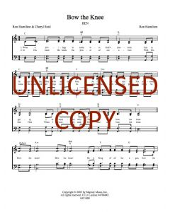 Bow the Knee -  Hymnal Style - Printable Download