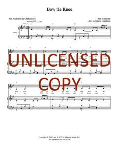 Bow the Knee - Piano/Vocal - Printable Download