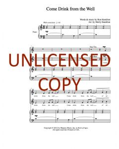 Come Drink From the Well - Choral Octavo - Printable Download