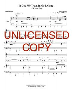 In God We Trust, In God Alone - Trio with SATB Choir - Printable Download