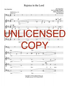Rejoice in the Lord - A Cappella - Printable Download