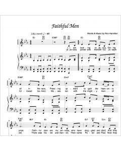 Faithful Men - Piano/Vocal Solo - Printable Download