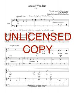 God of Wonders,  - Choral, Simply Majesty (SAB) - Printable Download