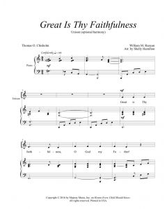 Great Is Thy Faithfulness - Unison (optional harmony)