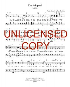 I'm Adopted - Hymnal Style - Printable Download