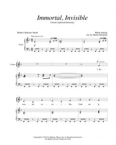 Immortal, Invisible - Unison (optional harmony)
