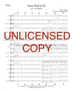 Jesus Paid It All - Piano Orchestration - Printable Download