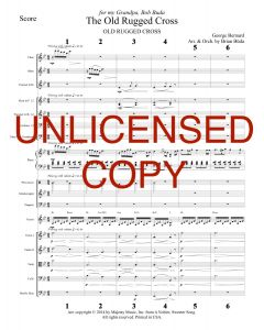 Old Rugged Cross - Piano Orchestration - Printable Download