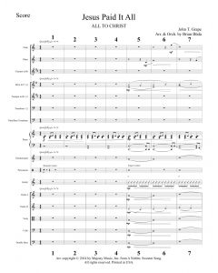 Jesus Paid It All - Choral Octavo Orchestration - Printable Download