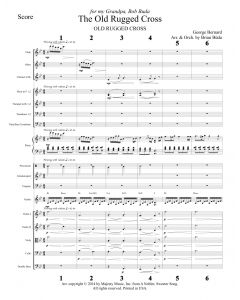Old Rugged Cross - Choral Octavo Orchestration - Printable Download