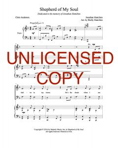 Shepherd of My Soul - Choral Octavo - Printable Download