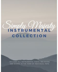 Simply Majesty Instrumental Accompanimant Package - Digital Sheet Music