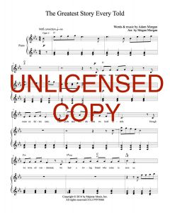 The Greatest Story Ever Told - Piano/Vocal - Printable Download