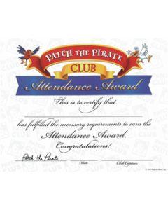 Attendance Award Certificate (Quantity: 1)