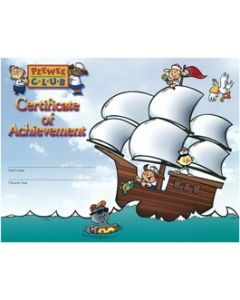 PeeWee Club Award - Ship Certificate (20 Pack)
