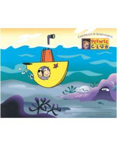 PeeWee Club Award - Submarine Certificate (20 Pack)